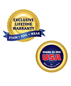 Lifetime Warranty and Made in the USA logos