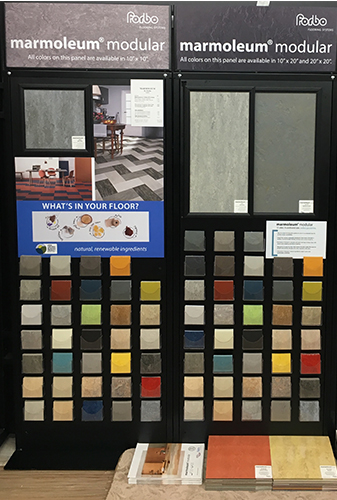 Forbo Marmoleum displays at Arcata ProFloor Abbey Design Center in Arcata, California